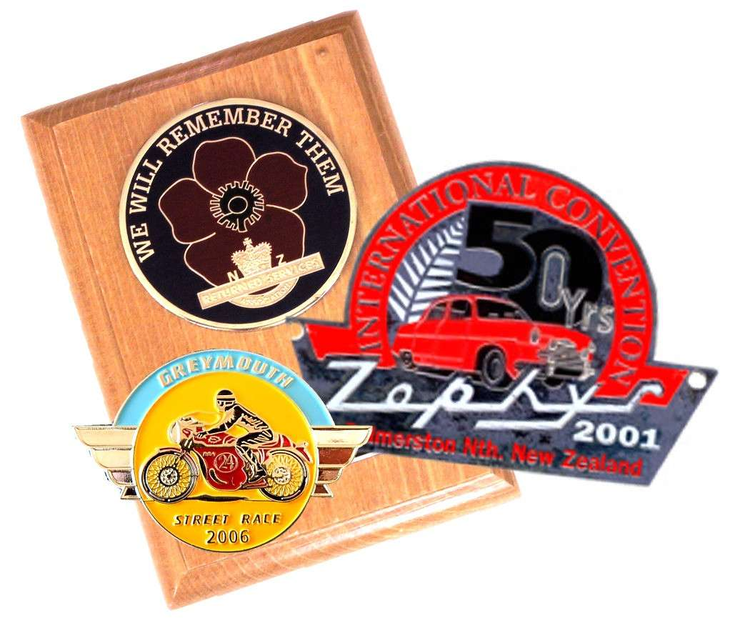 Car Club Plaques And Badges Nz