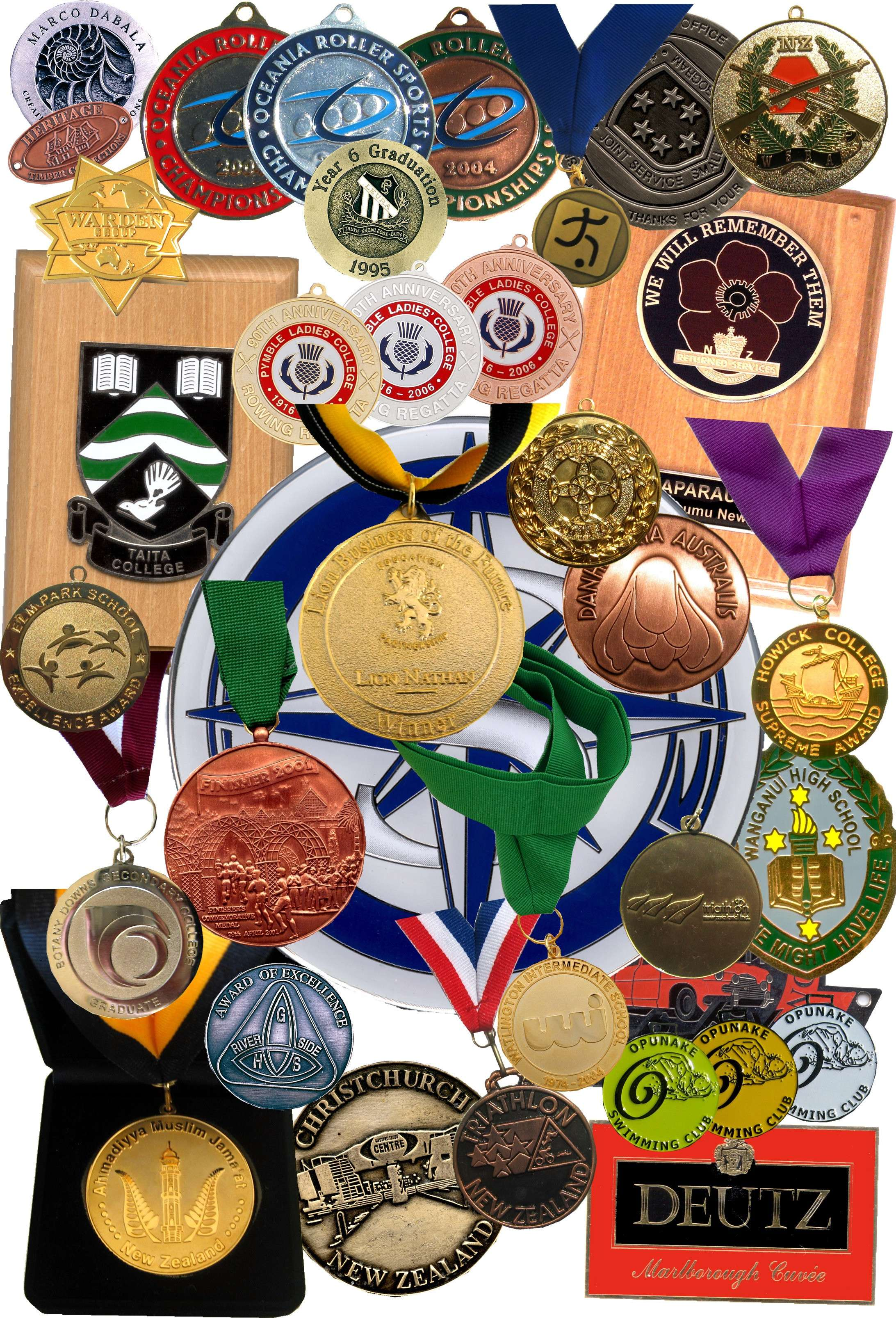 Medals Plaques And Medallions For Clubs And Schools Nz