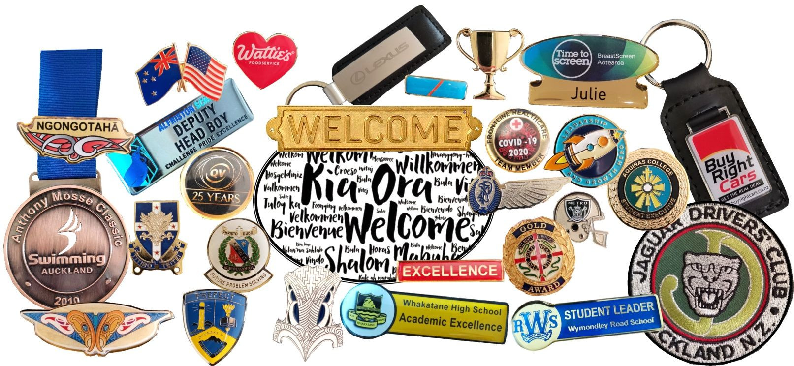 Precision Badges Nz Welcome Badge Examples