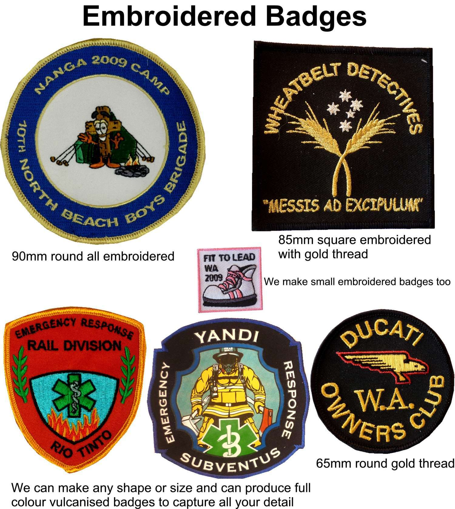 Western Australia Products  Embroidered Badges