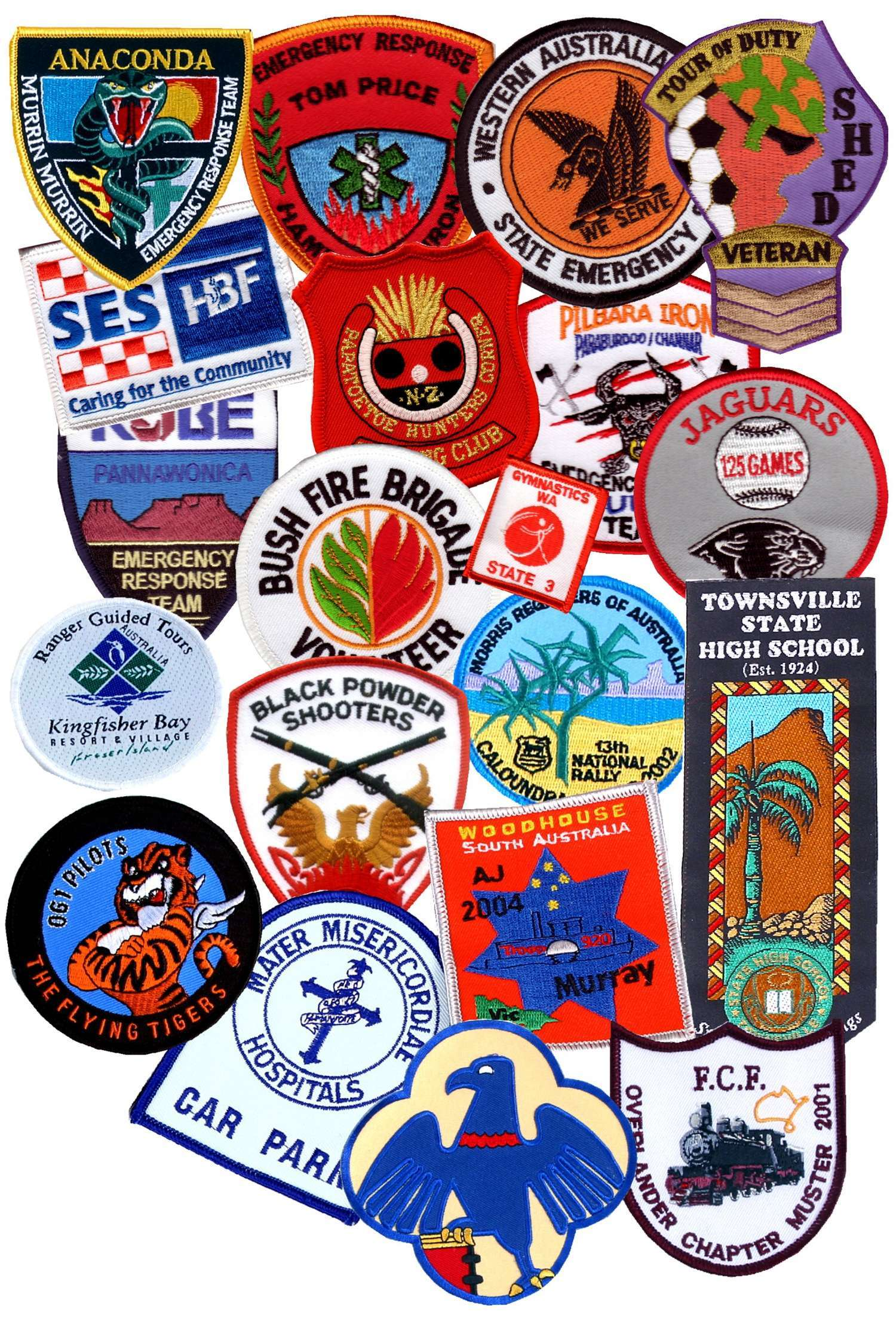 Embroidered Badges  Store  Precision Badges Australia