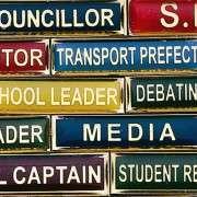 School Title Bars Close Up